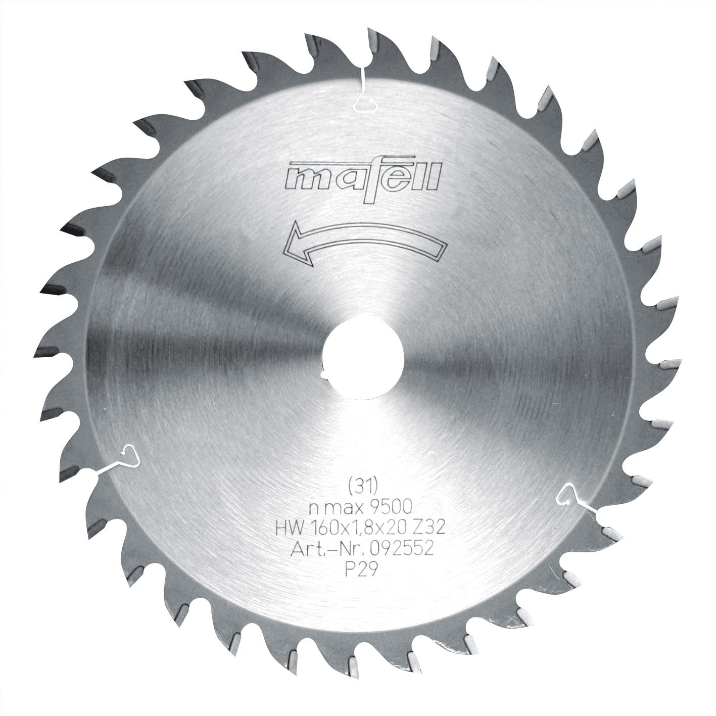 Mafell S/ägeblatt HM 160 x 1,2//1,8 x 20 mm Z 32 WZ 092552
