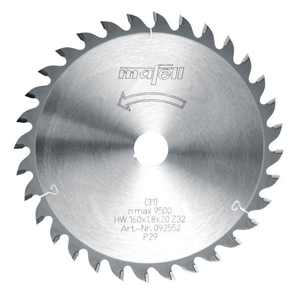 Sägeblatt-HM 160 x 1,2/1,8 x 20 mm, Z 32, WZ