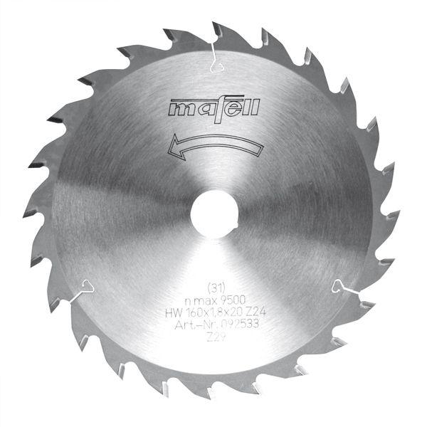 Sägeblatt-HM 160 x 1,2 / 1,8 x 20 mm, Z 24, WZ