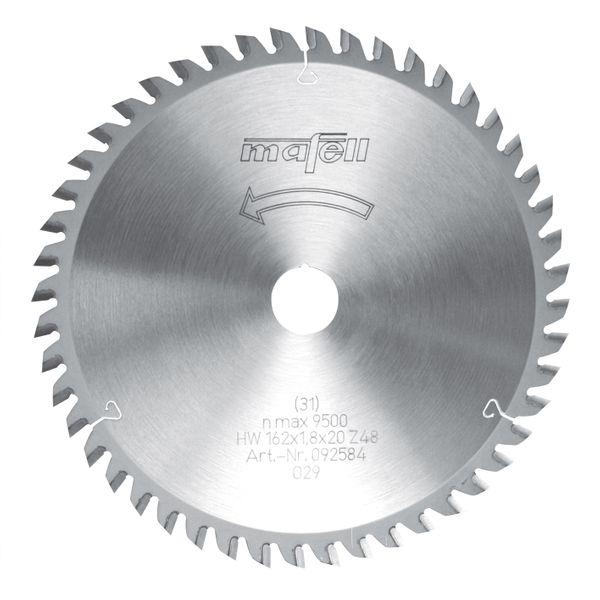 Sägeblatt-HM 162 x 1,2 / 1,8 x 20 mm, Z 48, WZ