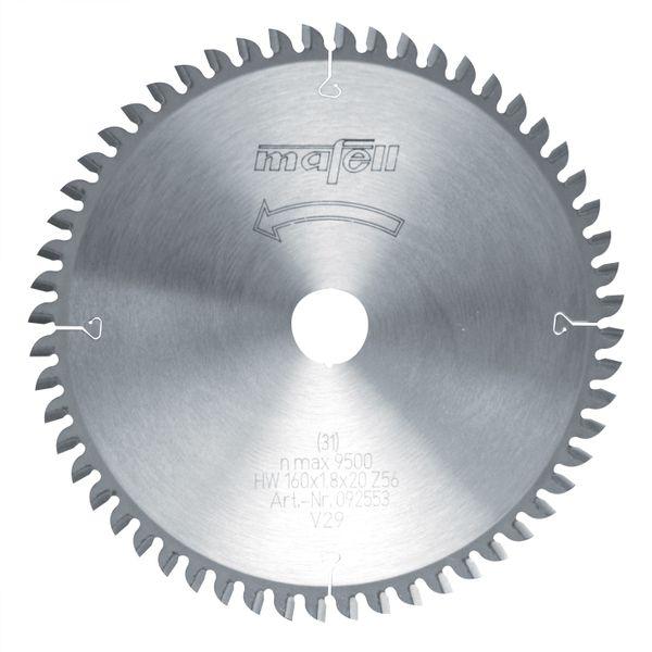 Sägeblatt-HM 160 x 1,2/1,8 x 20 mm, Z 56, FZ/TZ