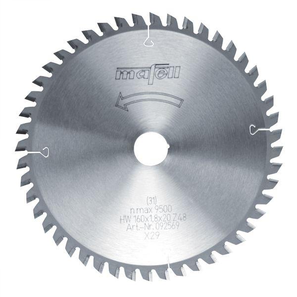 Sägeblatt-HM 160 x 1,2/1,8 x 20 mm, Z 48, FZ/TR