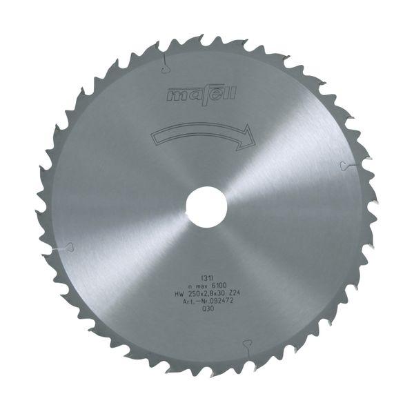 Sägeblatt-HM 250 x 1,8/2,8 x 30 mm, Z 24, WZ