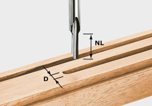 Nutfräser HS Schaft 8 mm HS S8 D 3/8