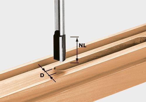 Nutfräser HW Schaft 8 mm HW S8 D12/30