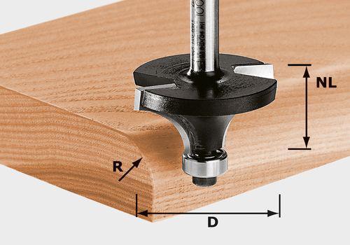 Abrundfräser HW Schaft 8 mm HW S8 D38,1/R12,7 KL