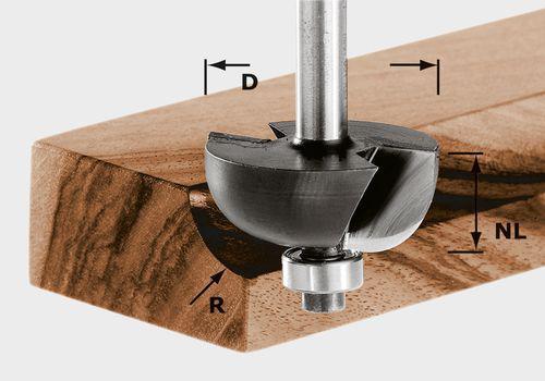Hohlkehlfräser HW Schaft 8 mm HW S8 D28,7/R8 KL online kaufen