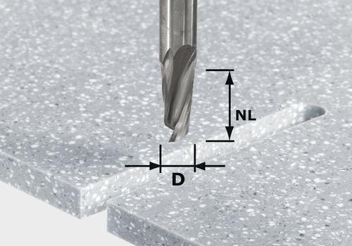 Spiralnutfräser HW Schaft 12 mm HW D12/27 ss S12