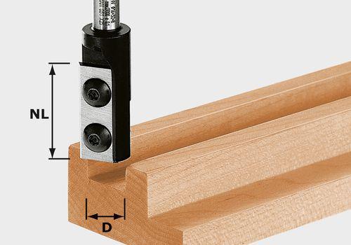 Wendeplatten-Nutfräser HW Schaft 8 mm HW D14/30 S8