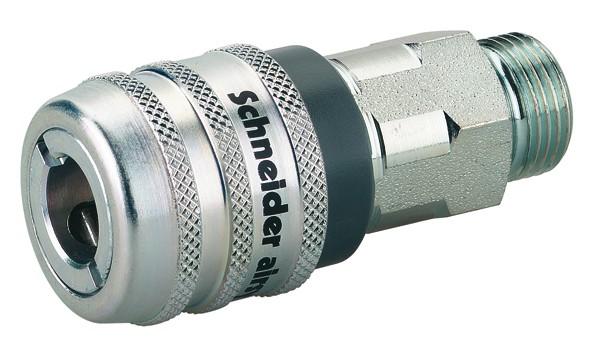 Sicherheits-Schnellkupplungen mit Außengewinde SSK-NW7,6-EURO-G1/2a