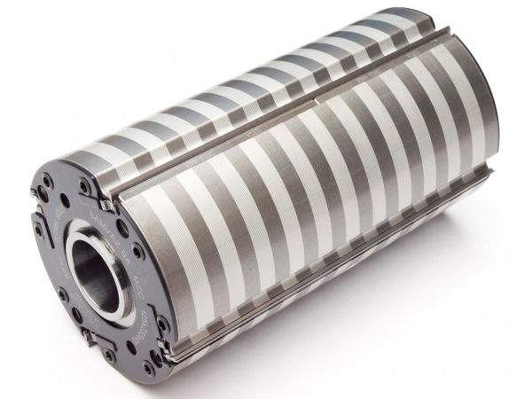 TERSA - Hobelkopf 140 x 230 x 40 mm Z 4 (R 2000) m. HS-Messern best., Werkzeug-Gesamtlänge 235 mm