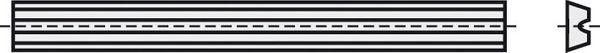 BRÜCK HW-WP für elektr. Handhobel 56 x 5,5 x 1,1 mm für ADLER