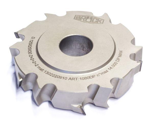 BRÜCK DP Füge-/Falzfräser ECONOMY 125 x 25 x 30 mm Z 2+2 - MAN Ausführung