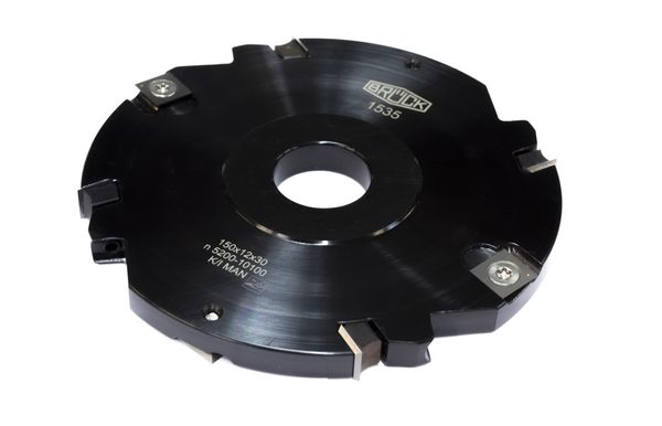 BRÜCK WP-Nutfräser Z4 + V4 150 x 12 x 30 mm - Stahl