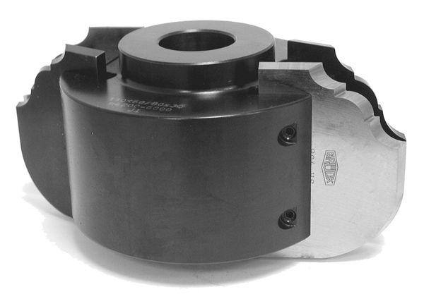 BRÜCK SP-Großprofiler, Solokopf 110x60/80x30 mm Z2, Stahlausf., für 60+80 x 5,5 mm Profile, PT 27