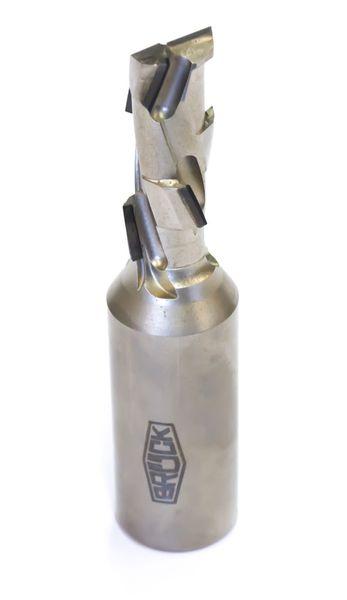 BRÜCK DP-Schaftfräser Z 1+1 -ECO- / rechts D=18 mm L1=103 mm L2=43 mm S=20x50mm ECO-Bestückung 2,5 mm - HW-Einbohrschneide