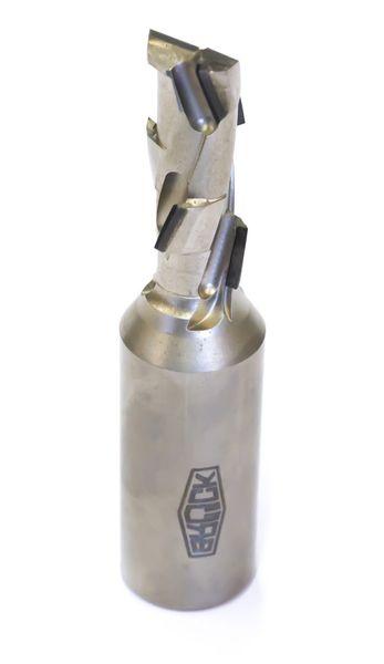 BRÜCK DP-Schaftfräser Z 1+1 -ECO- / links D=18 mm L1=103 mm L2=43 mm S=20x50mm ECO-Bestückung 2,5 mm - HW-Einbohrschneide