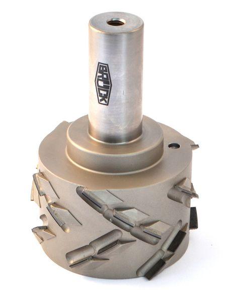BRÜCK DP-Fügefräser Z 3+3 - SPRINT - rechts D=60mm L2=35mm L1=100mm S=25x55mm Bestückungshöhe 4,5 mm - DP-Einbohrschneide