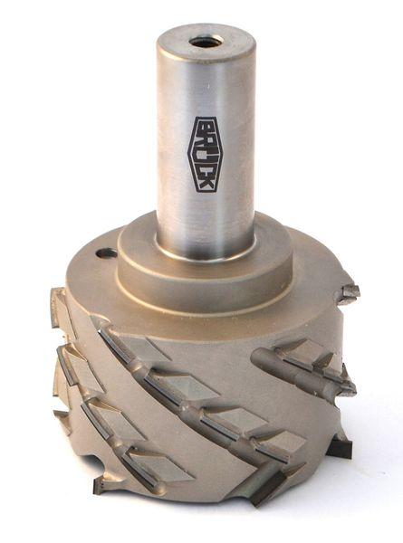 BRÜCK DP-Füge-und Falzfräser Z 3+3 - SPRINT - rechts D=80mm L2=45mm L1=100mm S=25x55mm Bestückungshöhe 4,5 mm - DP-Einbohrschneide