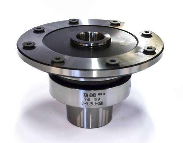 BRÜCK Sägeblattaufnahme für CNC - HSK 63F A=40 mm D=30/106 mm m. 8NL M5/TK90 o h n e Spanndeckel - inkl. 8 Zylinderkopfschr. M5