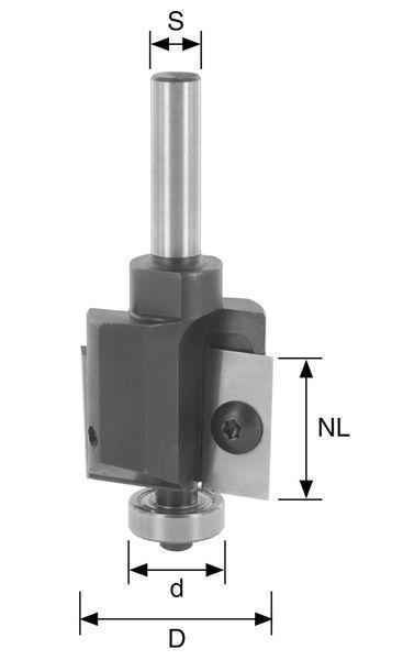 BRÜCK WP-Falzfräser Typ 353 Z2 D=32mm,NL=24mm,S=8x30mm inkl. 3 Kula.