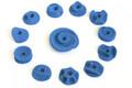 """12 Klettergriffe Griffset """"rundis"""" blau"""