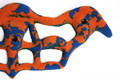 Trainingsboard Dragon 65cmx25cm orange-blau 003