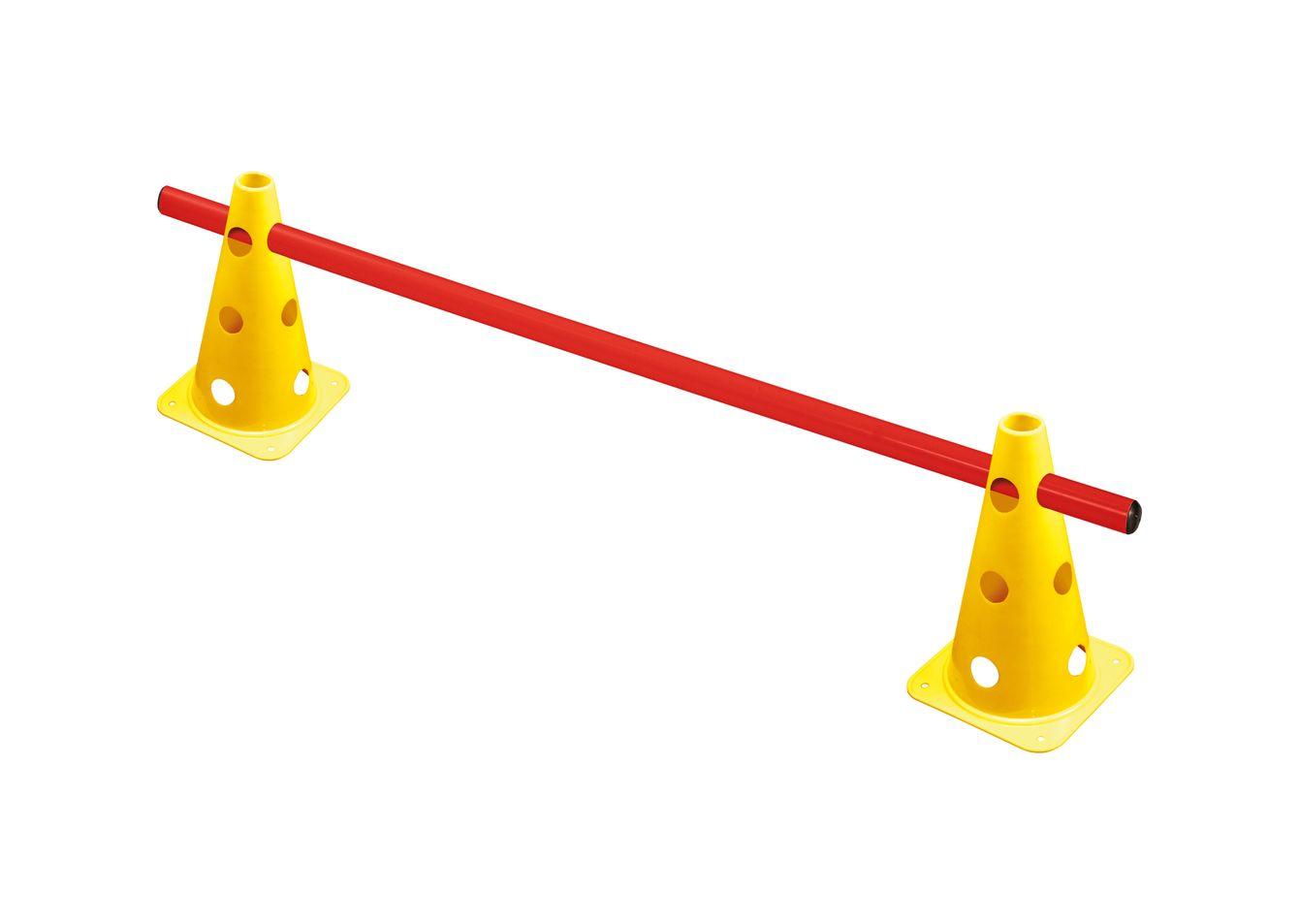 zestaw treningowy | 2 pachołki z otworami 22,5 cm + 1 tyczka 1 m