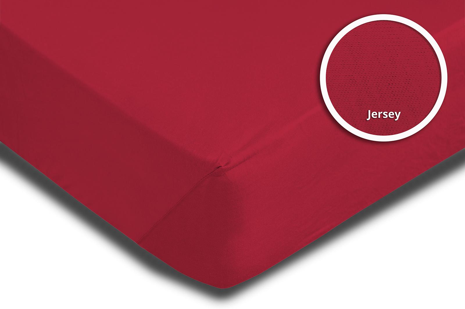 2er Pack Spannbettlaken Bettlaken rot 90x200 cm 100x200 cm Jersey Baumwolle