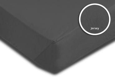 2er Pack Spannbettlaken Bettlaken anthrazit 90 x 200 cm - 100 x 200 cm Baumwolle – Bild 3