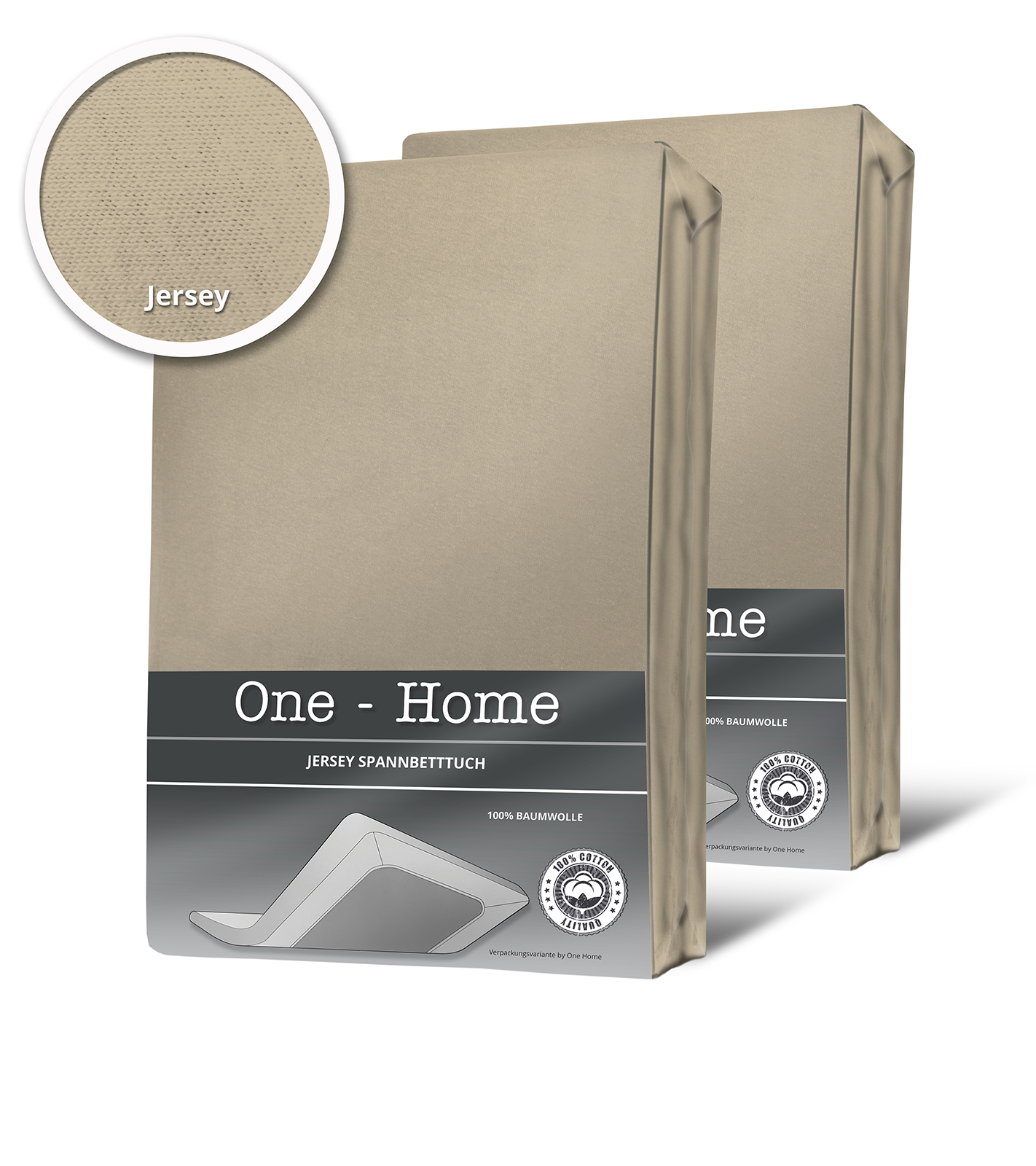 2er pack spannbettlaken bettlaken beige sand 90x200 cm 100x200 cm baumwolle spannbettlaken. Black Bedroom Furniture Sets. Home Design Ideas