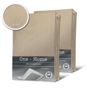 2er Pack Spannbettlaken Bettlaken beige sand 90x200 cm - 100x200 cm Baumwolle – Bild 1