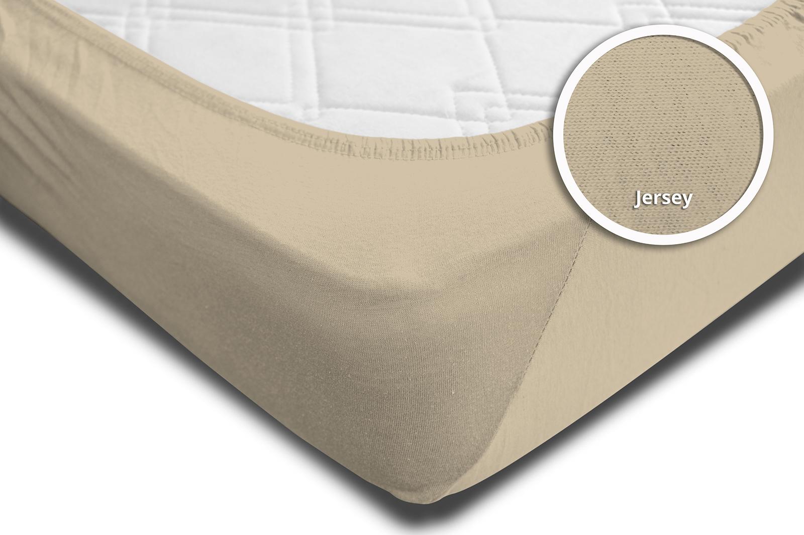 spannbettlaken spannbetttuch beige sand 90x200 cm 100x200 cm jersey baumwolle spannbettlaken. Black Bedroom Furniture Sets. Home Design Ideas