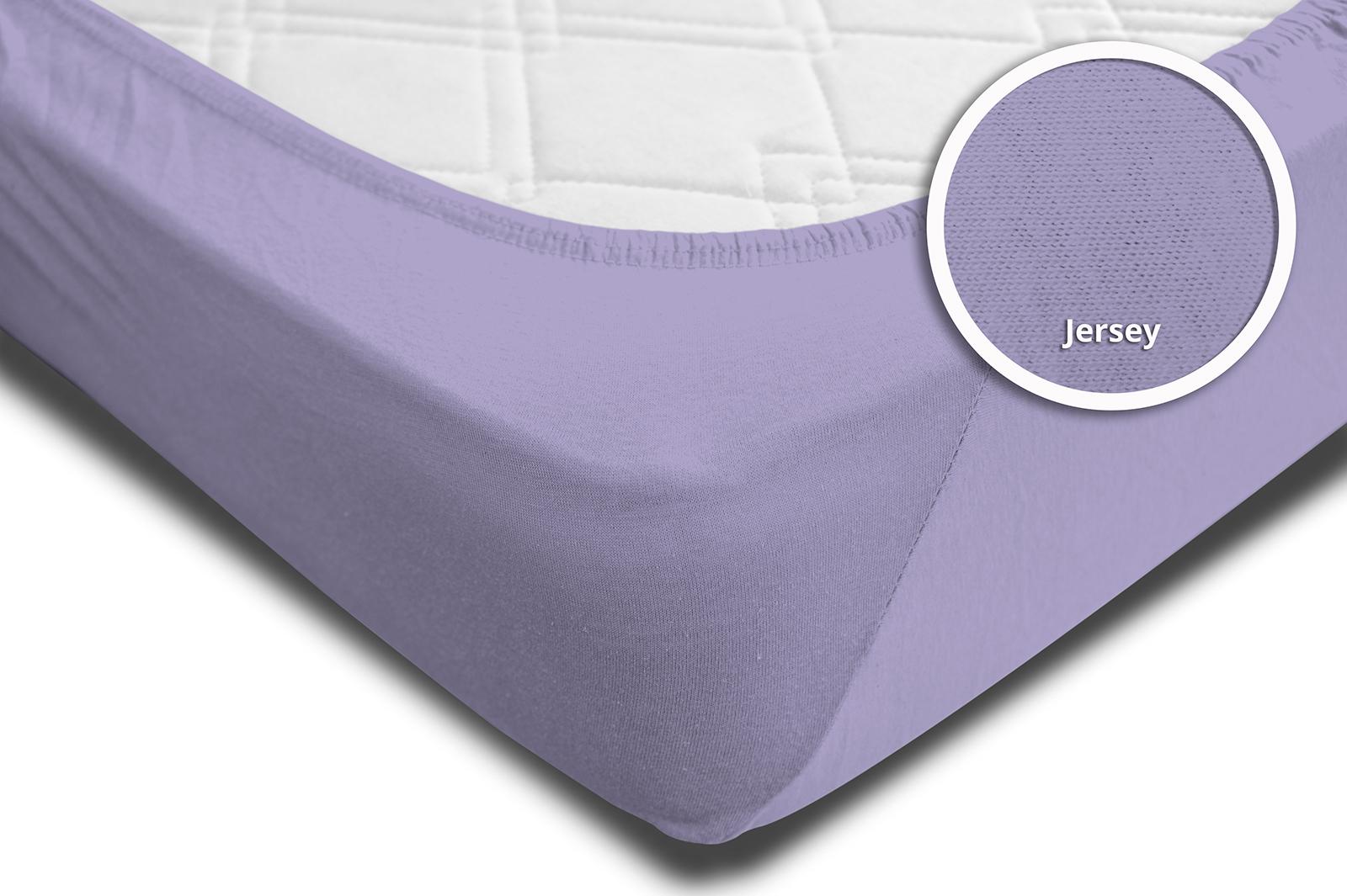 spannbettlaken spannbetttuch flieder 140x200 cm 160x200 cm jersey baumwolle spannbettlaken. Black Bedroom Furniture Sets. Home Design Ideas
