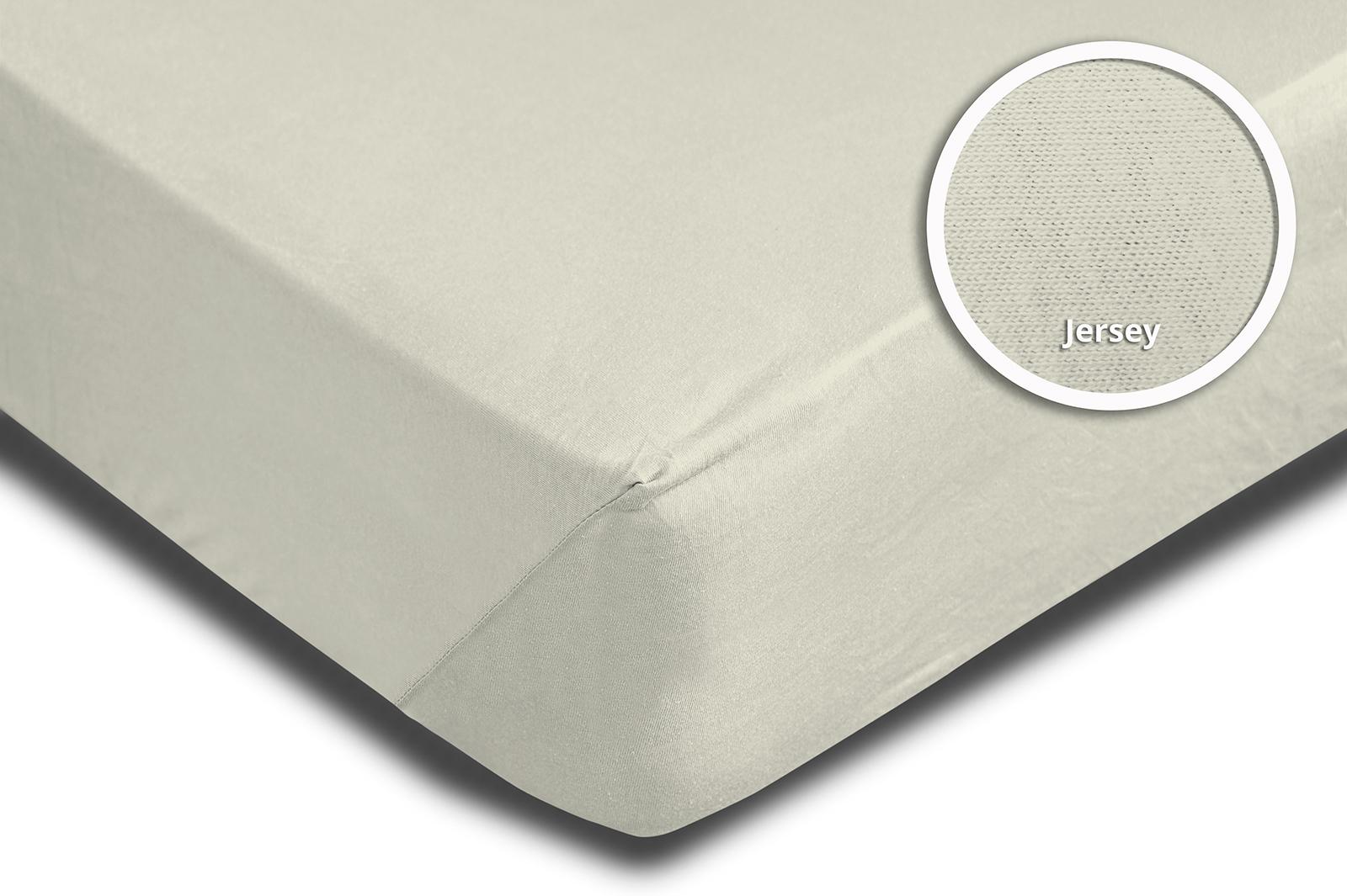 spannbettlaken spannbetttuch natur ecru 140x200 cm 160x200 cm jersey baumwolle spannbettlaken. Black Bedroom Furniture Sets. Home Design Ideas