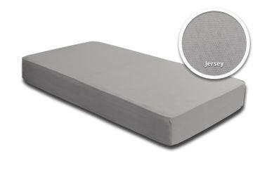 Spannbettlaken Spannbetttuch silber 140x200 cm - 160x200 cm Jersey Baumwolle – Bild 2
