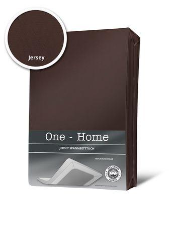Spannbettlaken Spannbetttuch braun schoko kaffee 140x200 cm - 160x200 cm Jersey – Bild 1