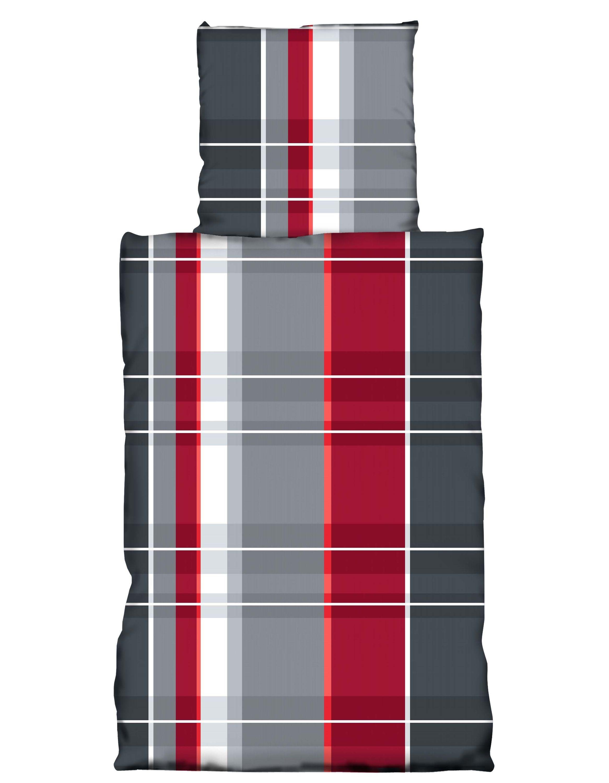 2 tlg bettw sche 155x220 cm grau rot bergr e garnitur microfaser bettw sche microfaser 155x220 cm. Black Bedroom Furniture Sets. Home Design Ideas