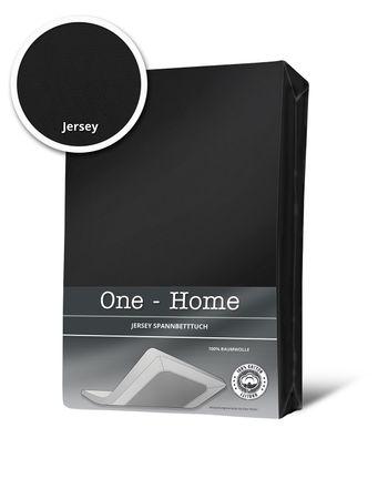 Spannbettlaken Spannbetttuch schwarz 90 x 200 cm - 100 x 200 cm Jersey Baumwolle – Bild 1