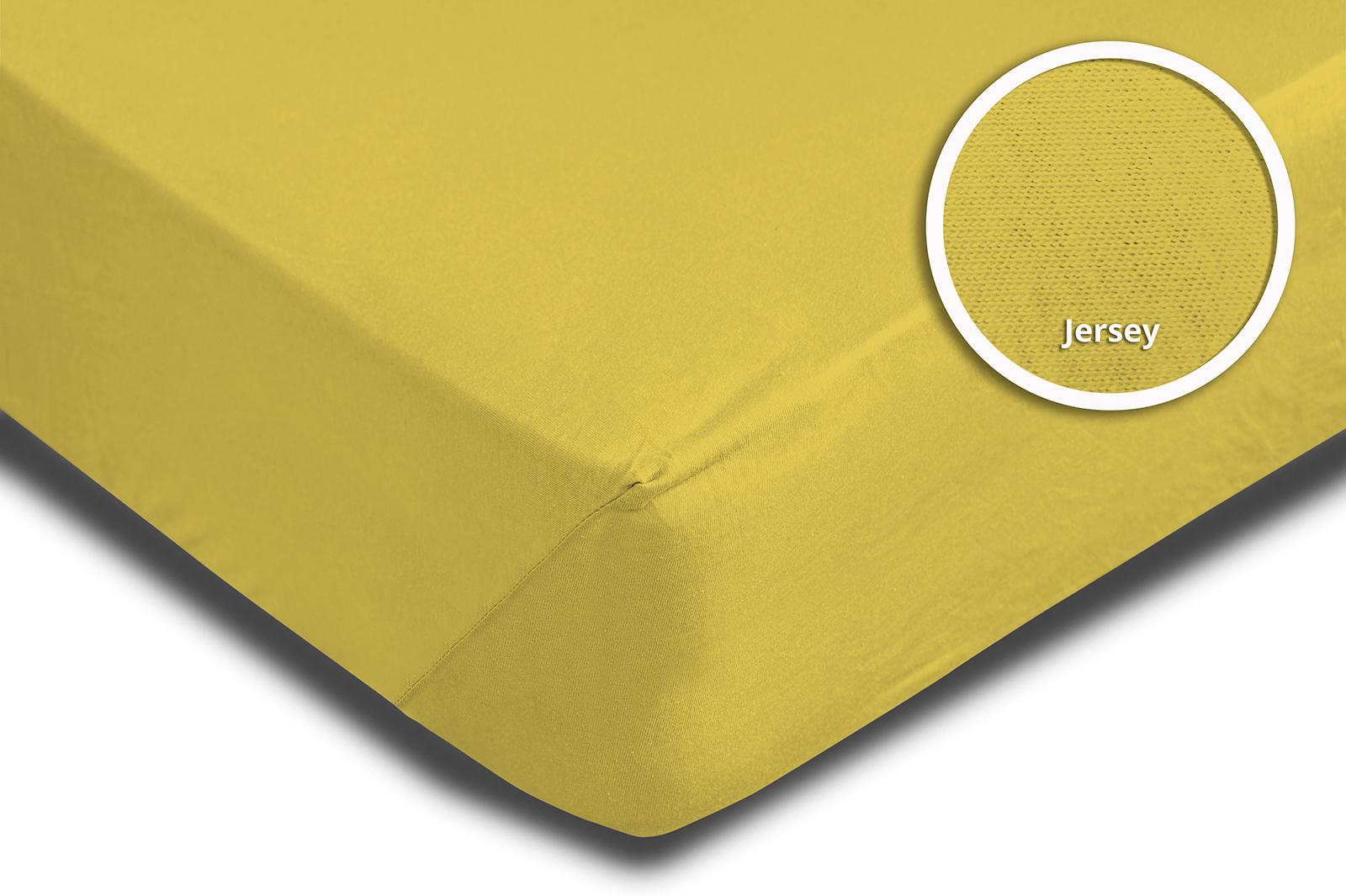 spannbettlaken 180x200 cm 200x220 cm gelb jersey boxspringbett wasserbett spannbettlaken. Black Bedroom Furniture Sets. Home Design Ideas