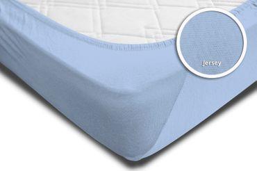 Spannbettlaken Babybett Kinder hellblau 60x120 cm - 70x140 cm Jersey Baumwolle – Bild 3