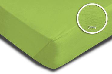 Spannbettlaken Spannbetttuch grün 90 x 200 cm - 100 x 200 cm Jersey Baumwolle – Bild 3