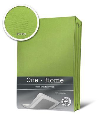 Spannbettlaken Spannbetttuch grün 90 x 200 cm - 100 x 200 cm Jersey Baumwolle – Bild 1