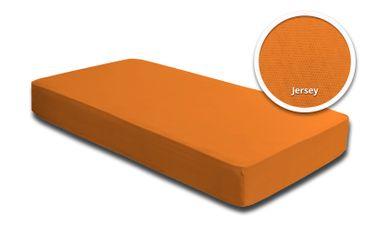 Spannbettlaken Babybett Kinder orange 60 x 120 cm - 70 x 140 cm Jersey Baumwolle – Bild 1