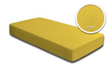 Spannbettlaken Babybett Kinder gelb 60 x 120 cm - 70 x 140 cm Jersey Baumwolle – Bild 1