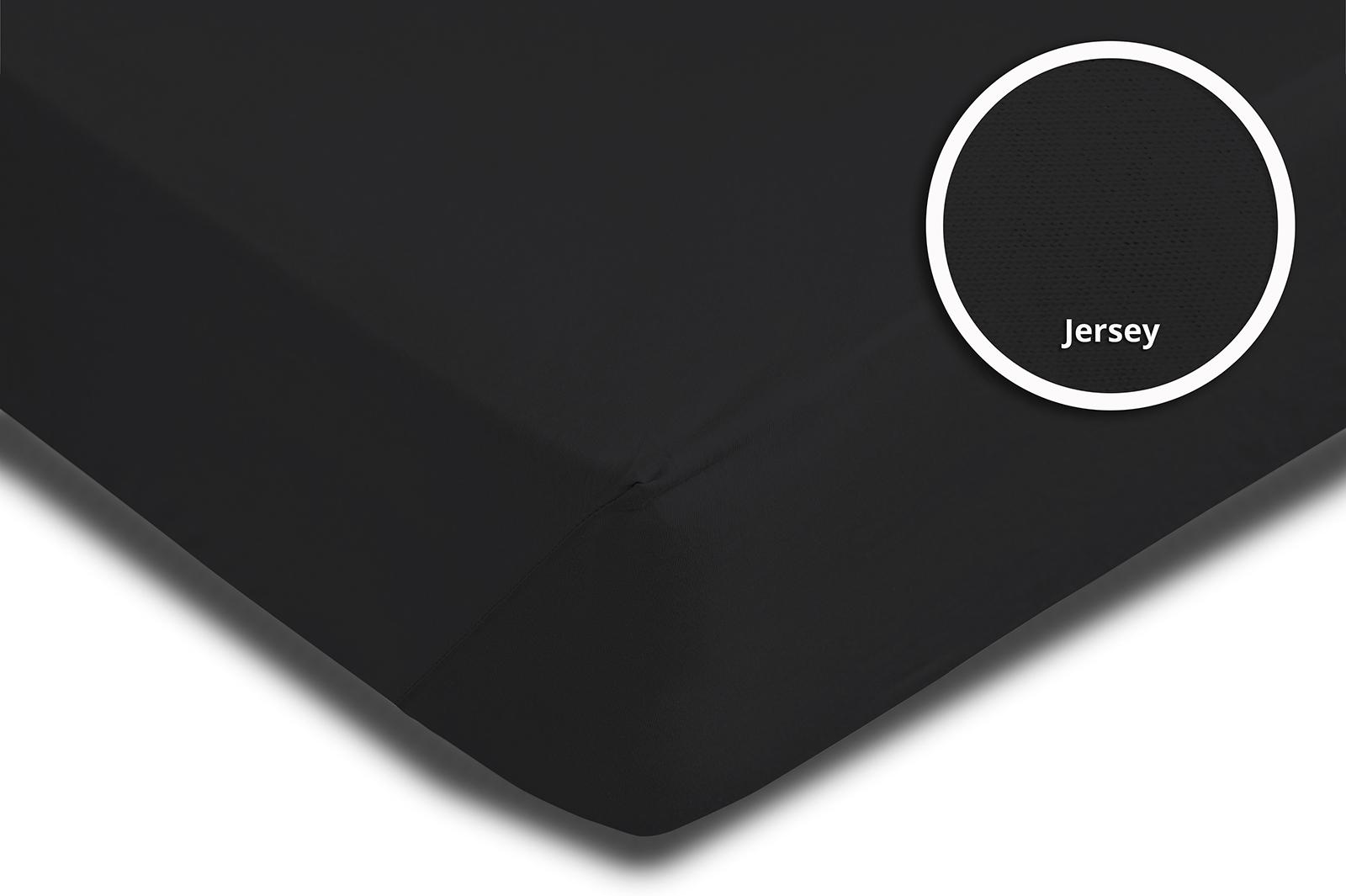 topper spannbettlaken bettlaken schwarz 180x200 cm 200x200 cm jersey baumwolle spannbettlaken. Black Bedroom Furniture Sets. Home Design Ideas