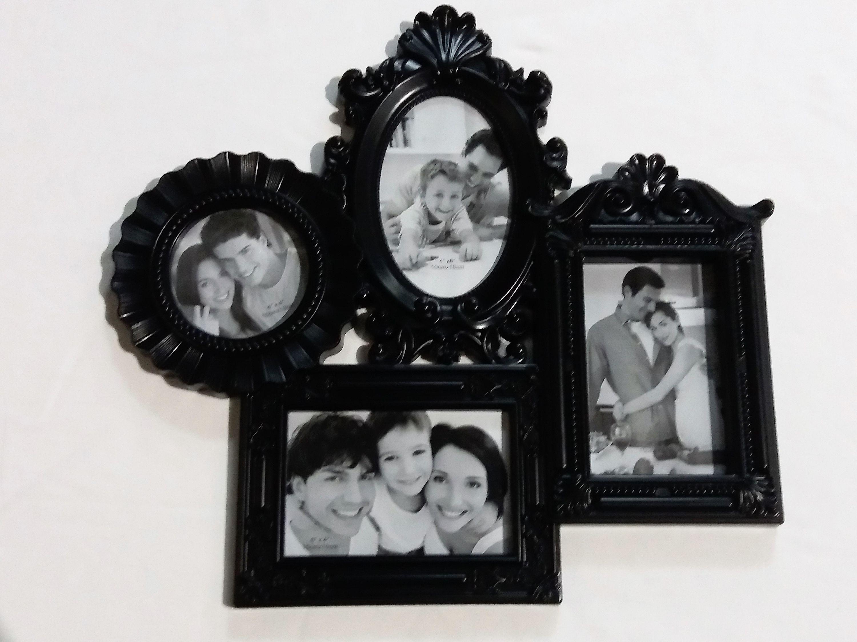 Fotorahmen Bilderrahmen Collage 43 x 40 cm Antik Optik schwarz ...