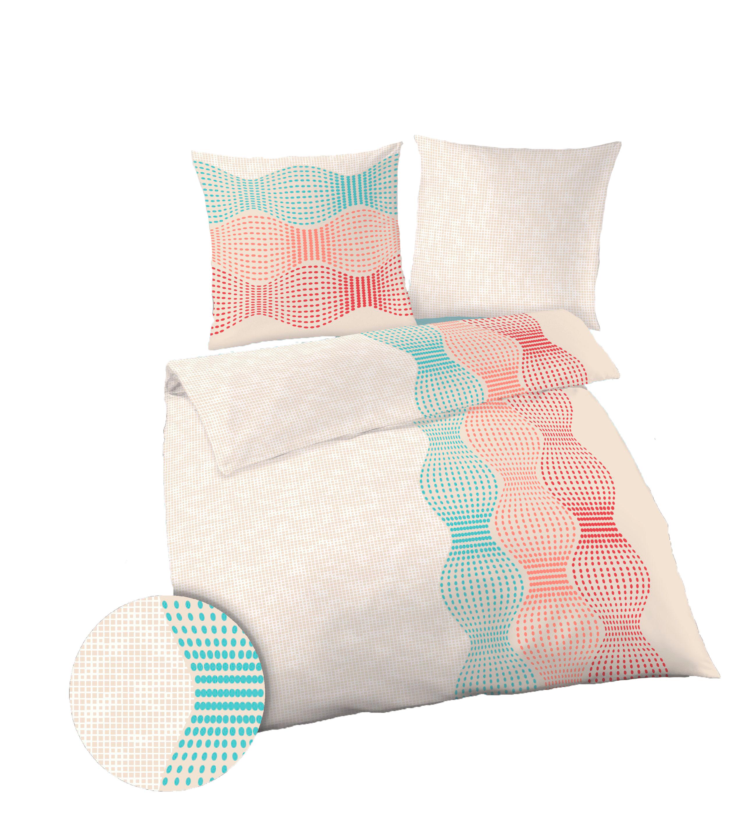 2 tlg bettw sche 155 x 220 cm beige koralle feinbiber. Black Bedroom Furniture Sets. Home Design Ideas