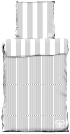Bayer Leverkusen Wende Bettwäsche 135 x 200 cm grau weiß Baumwolle – Bild 1