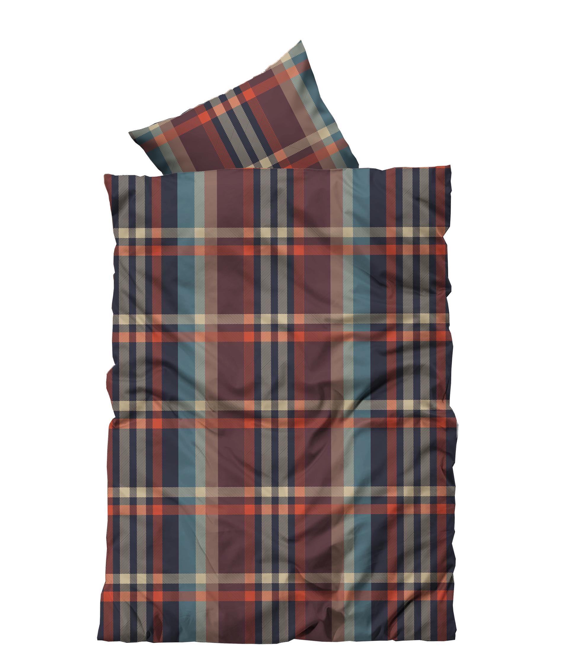 4 tlg flausch bettw sche 135 x 200 cm winter karo braun thermofleece amazon bettw sche set. Black Bedroom Furniture Sets. Home Design Ideas